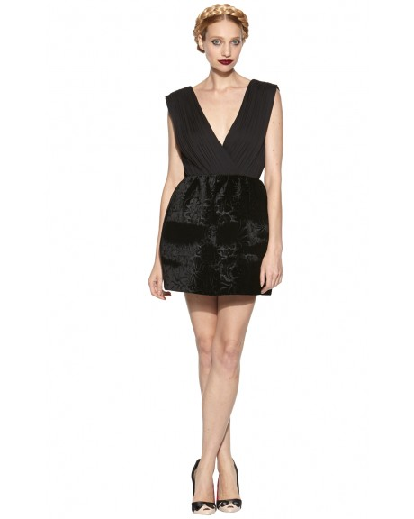 RIVA GATHERED POUF SKIRT DRESS | Alice   Olivia |
