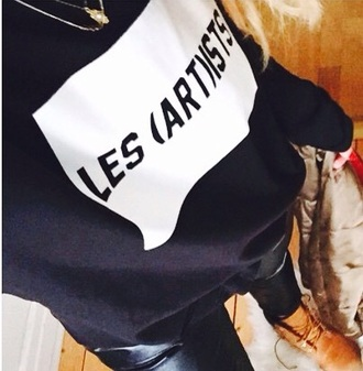 sweater les artists black sweater white