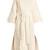 Collarless cotton-blend coat