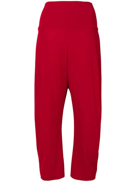 Issey Miyake loose cropped women red pants