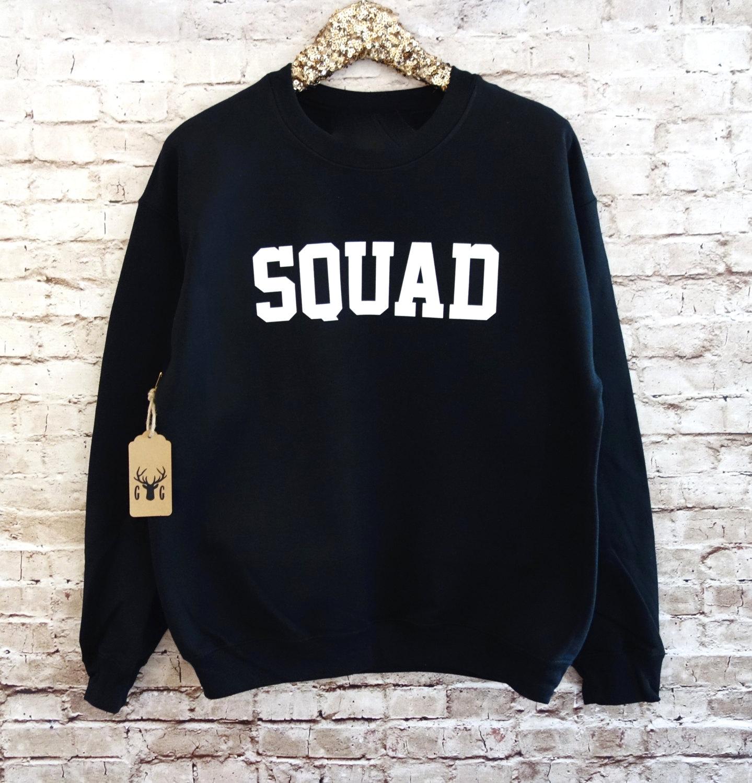 Sweatshirt. Squad Shirt. Squad Jumper. Fleece Crewneck Sweatshirt ...