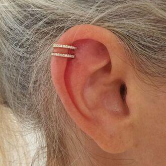 jewels earrings hoop earrings cartilage earring gold earrings huggie hoops cartilage hoop gold jewelry gold cute classy sweet jewelry minimalist jewelry diamonds