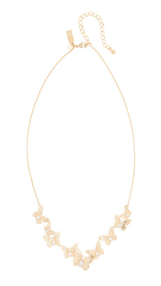 butterfly necklace clear gold jewels