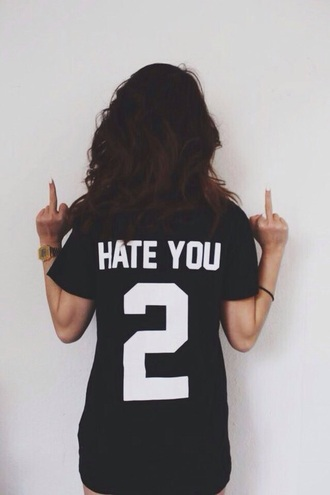 shirt black hate tumblr