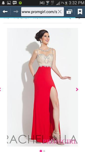 dress red rachel allan