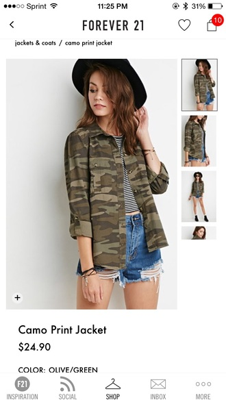 jacket camouflage camo jacket button up