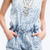 Women's Clothing All Acid Washed Up Jean Strappy Denim Romper 11001RP | eBay