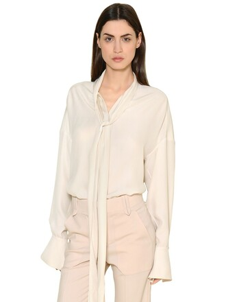 shirt silk satin top