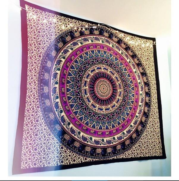 home accessory tapestry blanket boho elephant mandala