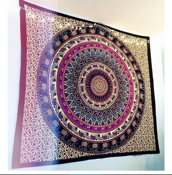 home accessory tapestry blanket boho elephant mandala