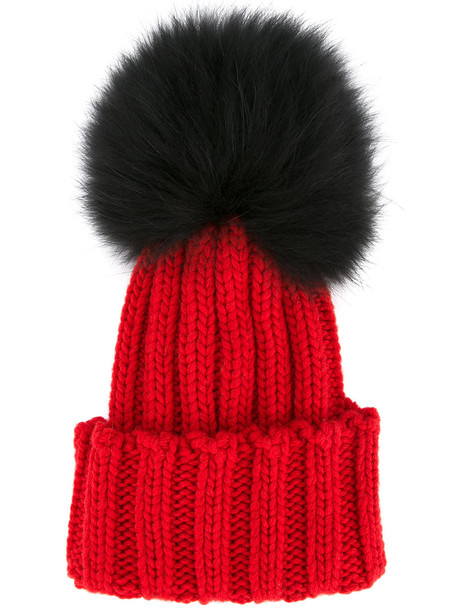 Inverni fur women beanie red hat