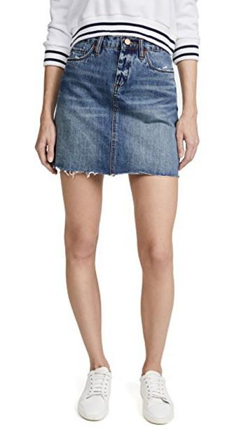 Blank Denim miniskirt denim back skirt