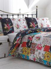 scarf,duvet,bedding,linen,quilt,floral,black and white,multicolor,blanket