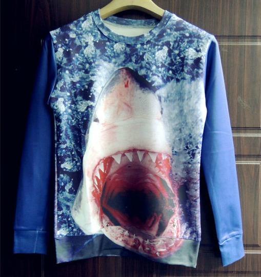 Magnifique palette — shark crewneck (unisex)