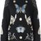 Alexander mcqueen 'obsession' jumper, women's, size: small, black, silk/polyamide/polyester/metallic fibre
