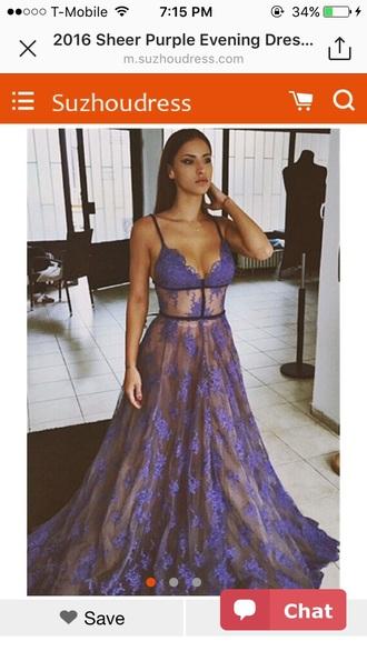 dress prom dress gown lace dress floral dress long dress purple dress
