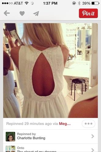 blouse shirt blouse pretty lace white open back openback