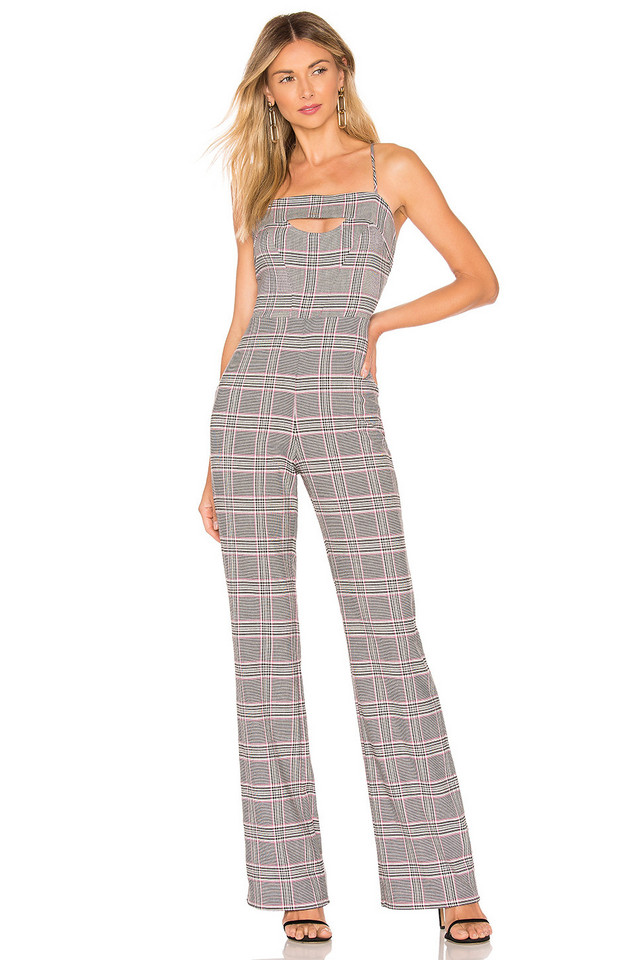 NBD x Naven Rose Jumpsuit in gray