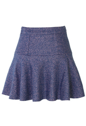 skirt,blue,high waisted,ruffle