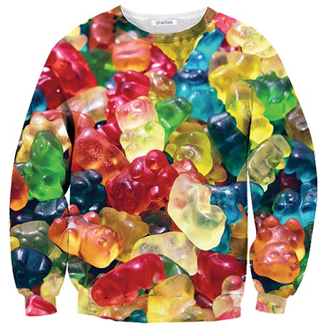 GUMMY BEARS SWEATSHIRT at What on Earth | CM2582