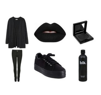 shoes black grunge cute emo goth all black everything platform sneakers creeps creepers converse lowtops bag make-up