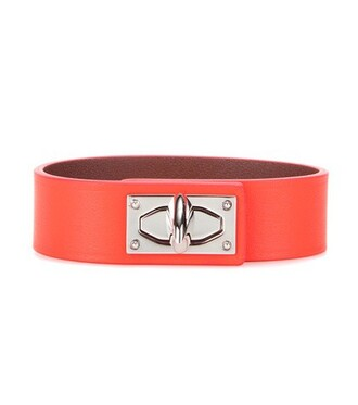 shark leather orange jewels