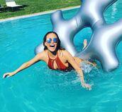 swimwear,one piece swimsuit,chrissy teigen,sunglasses