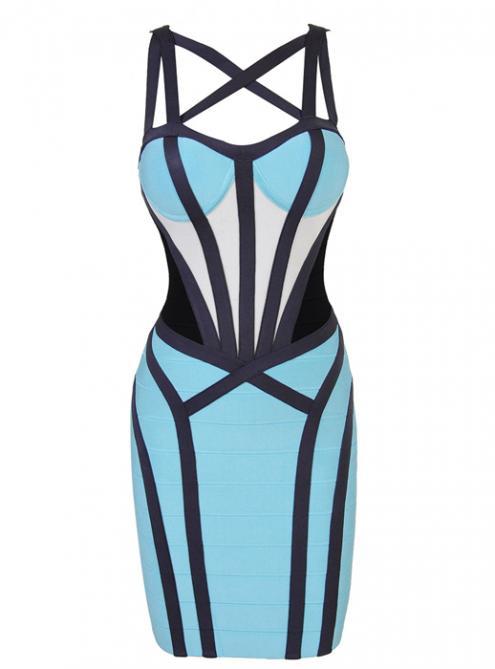 Cutout Strap Bandage Dress H565$109