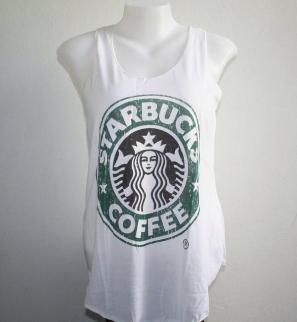 shirt starbucks coffee summer white starbucks coffee