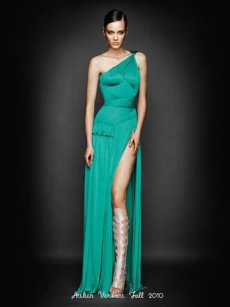 long dress bodycon dress green dress pleated