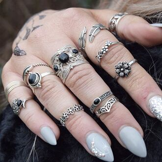 jewels cherry diva knuckle ring ring silver silver ring silver jewelry boho boho jewelry