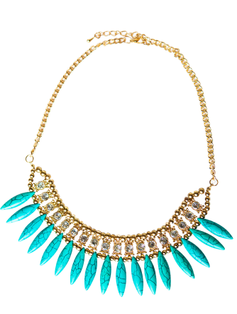 Stone and Spike Tribal Necklace