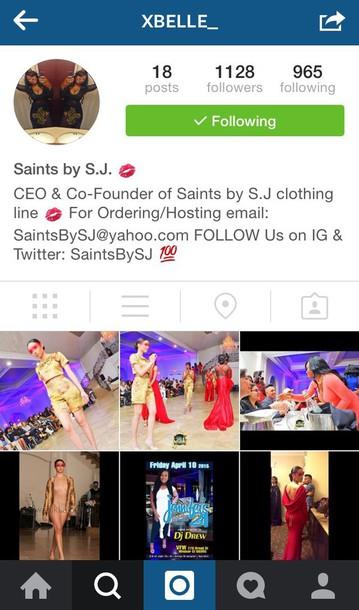 dress saints by sj