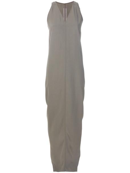 Rick Owens dress draped dress women draped grey