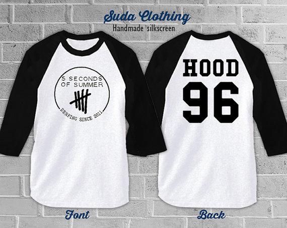 194bab25f0a Calum Hood 96 Shirt 5sos 5 seconds of summer T-Shirt   White Color ...
