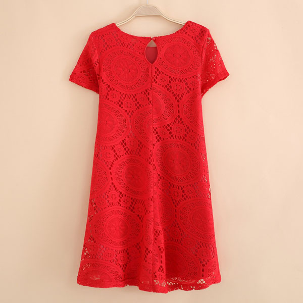 Aliexpress.com : Buy Beauty Women Sweet Summer Casual Dress Hollow Lace Crochet Floral Short Sleeve Shirt Mini Dress from Reliable dress pencil suppliers on Shenzhen Gache Trading Limited