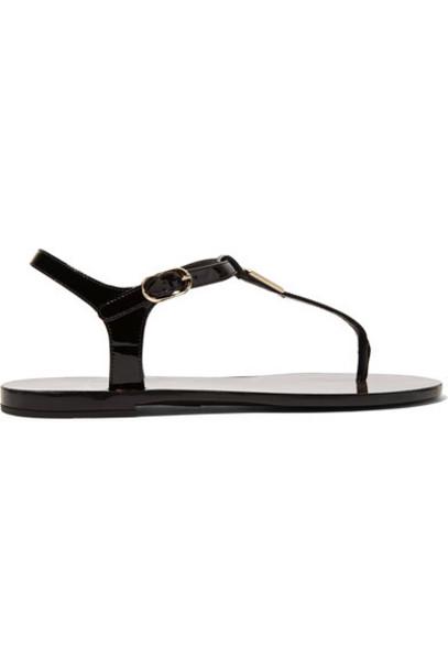 Dolce & Gabbana embellished sandals leather sandals leather black shoes