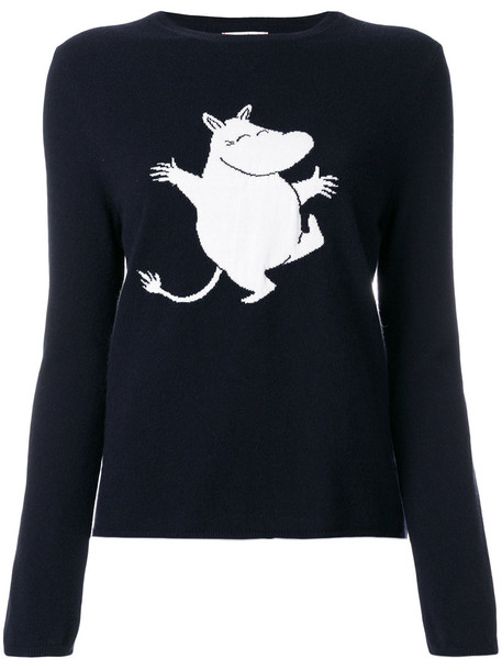 Chinti & Parker - dancing Moomin jumper - women - Cashmere - S, Blue, Cashmere