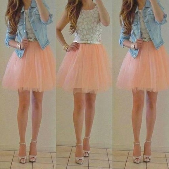 dress tulle lace dress
