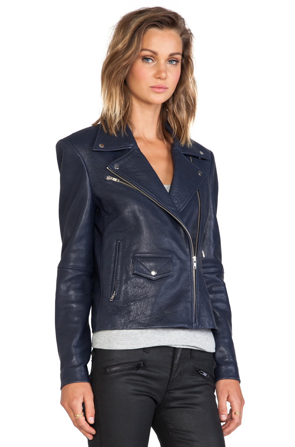 Veda lazer classic jacket in navy from revolveclothing.com