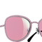Chanel sunglasses silver & pink oval runway | online boutique