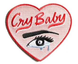 home accessory cool patches melanie martinez crybaby tumblr heart tears crying eye