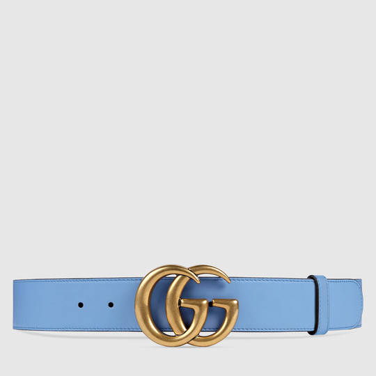 72aff6db302e Gucci Leather belt with Double G buckle