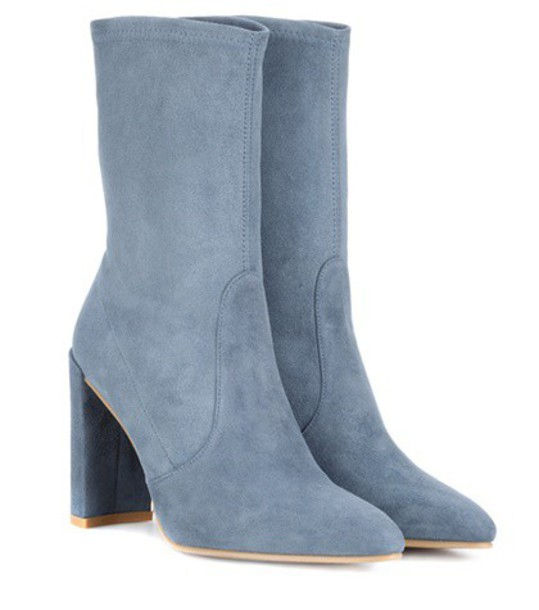 STUART WEITZMAN suede ankle boots ankle boots suede blue shoes