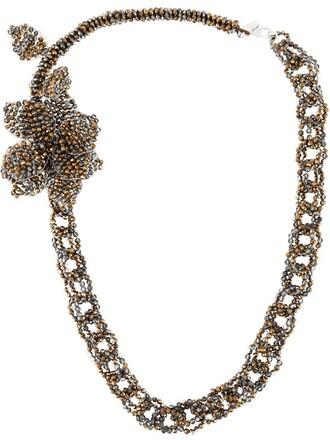 chain necklace metallic women beaded necklace jewels