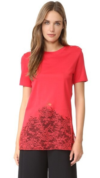 top short bright red