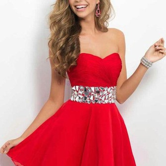 dress strapless jewel sparkle jewel in middle short red dress the middle