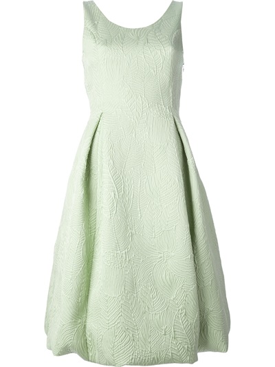 Rochas Leaf Design Dress - O' - Farfetch.com