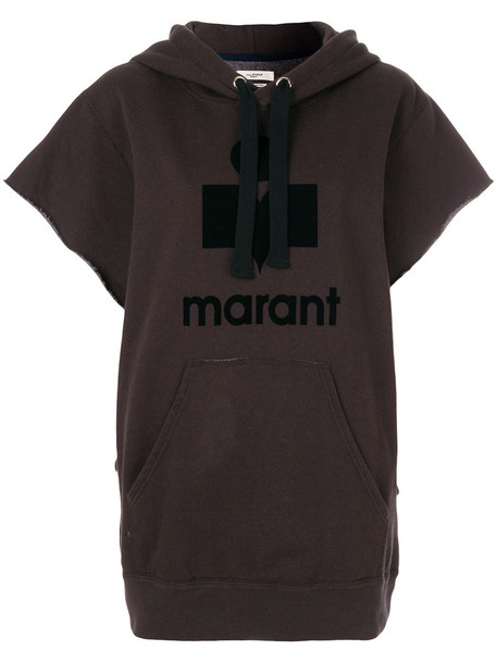 Isabel Marant etoile hoodie short women cotton black sweater