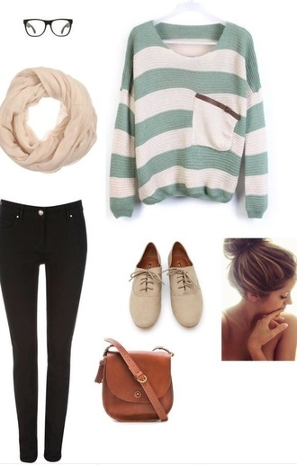 sweater knitted stripes